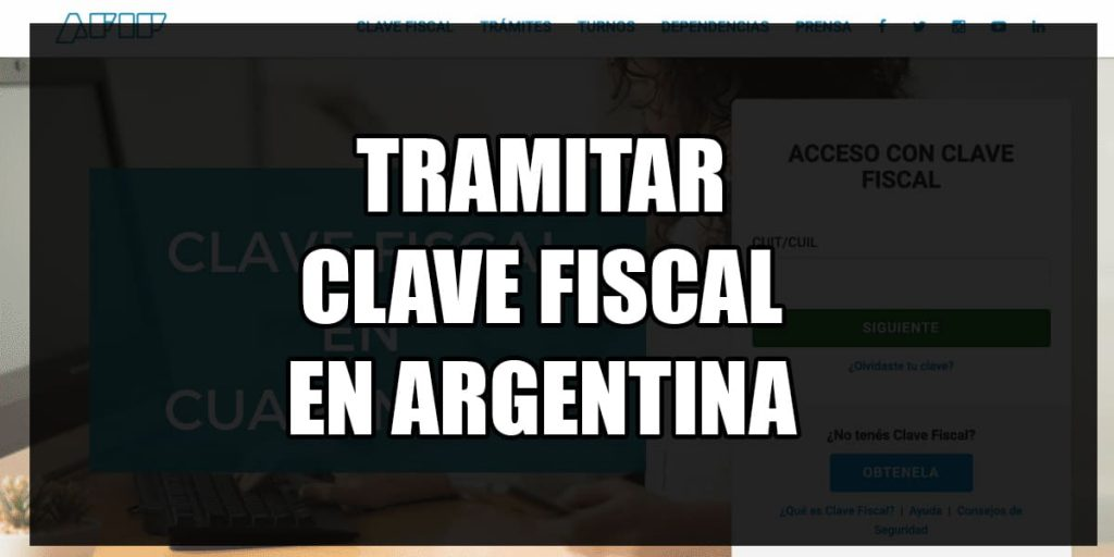 tramitar clave fiscal online afip