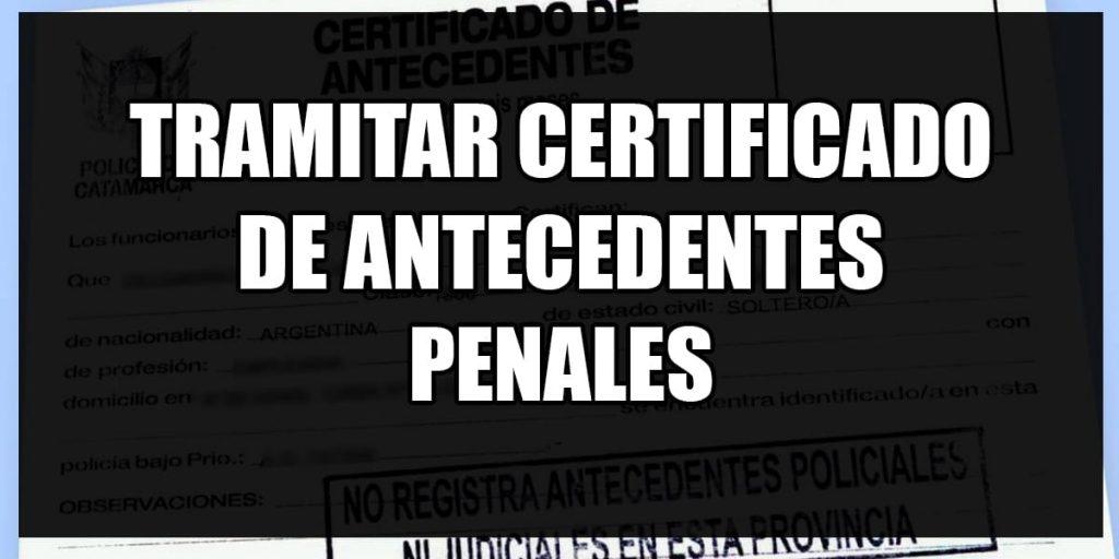 gestionar certificado de antecedentes penales